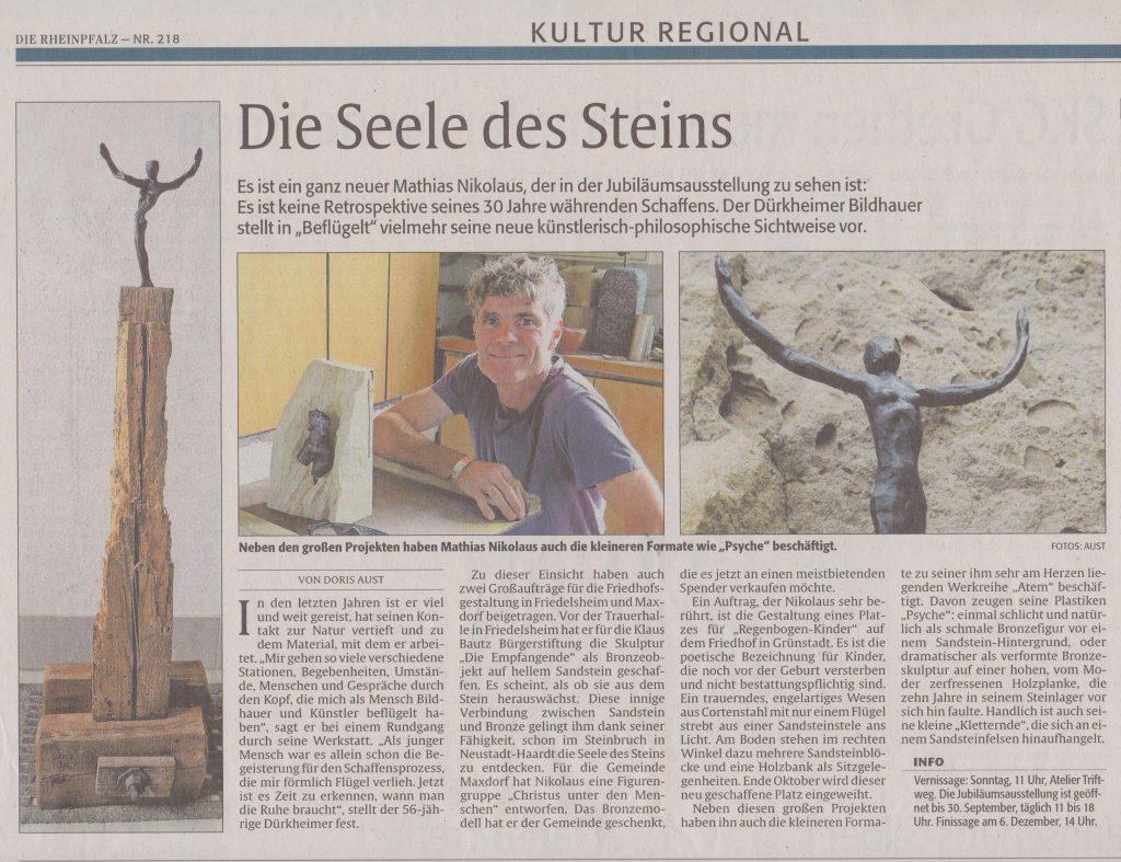 Bildhauer Nikolaus Bad Dürkheim Rheinpfalz-Artikel 19.9.18 001